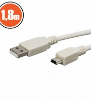 USB kábel 2.0 A dugó - B dugó (mini) 1,8 m