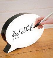Írható szövegbuborék lámpa