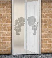 Szúnyogháló függöny ajtóra mágneses 100 x 210 cm Fiú + Lány