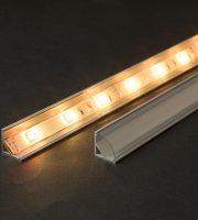 LED aluminium profil takaró búra átlátszó 2000 mm