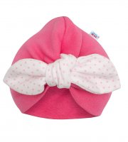 Lány sapka turbán New Baby For Girls dots - 68 (4-6 h)
