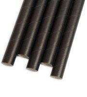 Papír szívószál - fekete