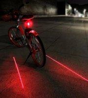 Kerékpár lámpa, bicikli lámpa, lézeres hátsó lámpa