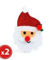 Karácsonyfadísz szett - mikulás - 2 db / csomag