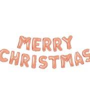 """3D Karácsonyi """"Merry Christmas"""" lufi - rozéarany"""