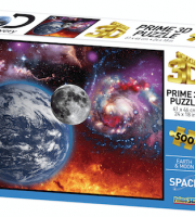 Föld Hold Discovery Channel 3D puzzle. 500 darabos