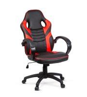 Gamer szék karfával - piros - 71 x 53 cm / 53 x 52 cm
