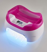 Manikűr 36 db UV LED lámpa, LCD kijelzővel