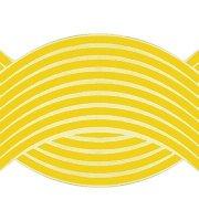 16 db Tuning felni csík sárga