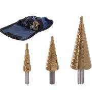 3 db Lépcsős fúró készlet, 4-32 mm